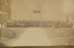 Group in convict school, Central Prison, Lucknow, Oudh